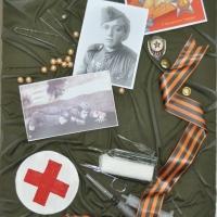 Ухина М.Н. Сто раненных она спасла одна из триптиха «Героям Великой Отечественной…»1